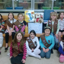 Tinc Road Elementary School's Brownie Troop 5056