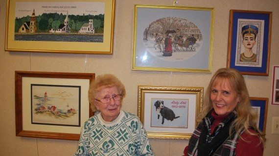 Heath Village Resident Displays Her Counted-Cross Stitch Creations