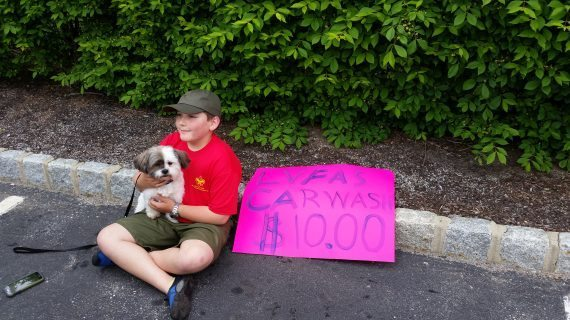 Boy Scout Troop Rescues Lost Dog During Car Wash