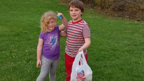 First Grader Rescues Park From Trash