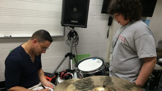 Drummer For Hit Musical Visits Caldwell University Percussion Camp