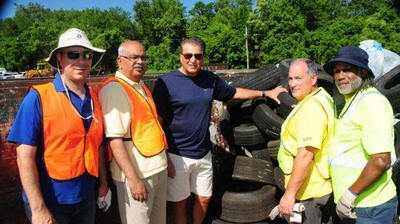 Tires Collected In Cedar Grove
