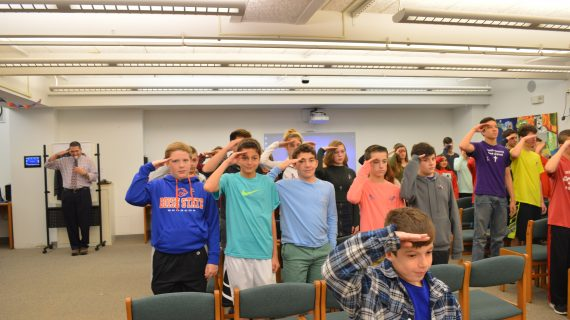 Randolph Students Salute To Veterans Day