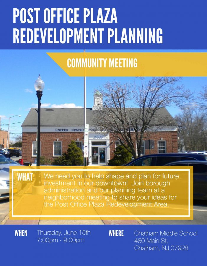 Redevelopment Planning Meeting Chatham