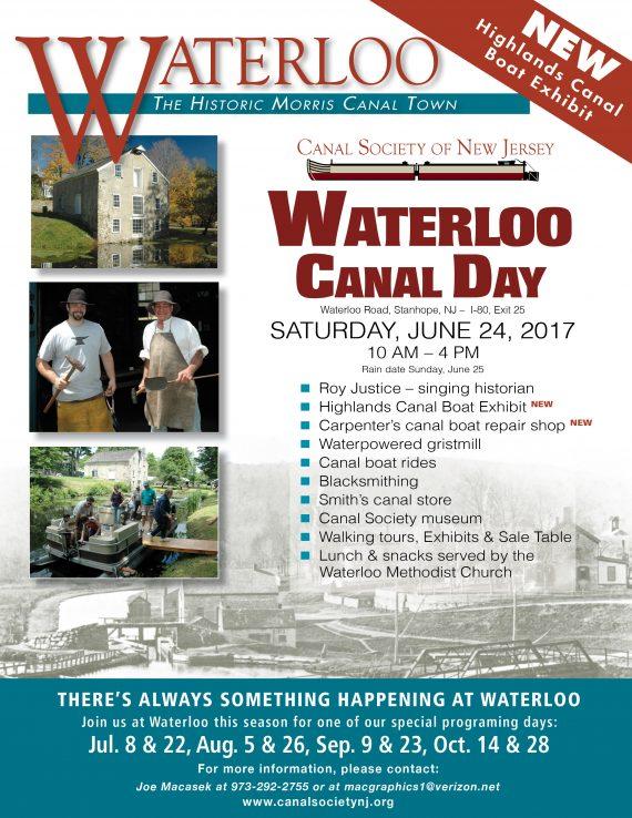 Waterloo  Canal Day  Saturday, June 24, 2017  10 am – 4 pm