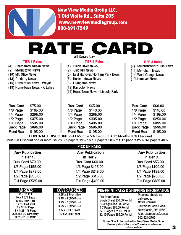 Rate Card