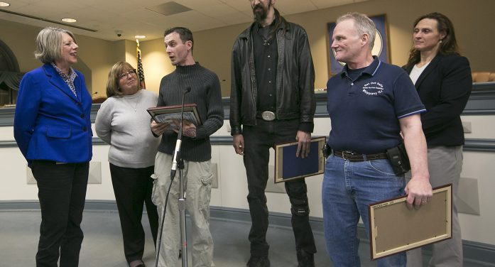 Heroes Lauded For Fire Rescues