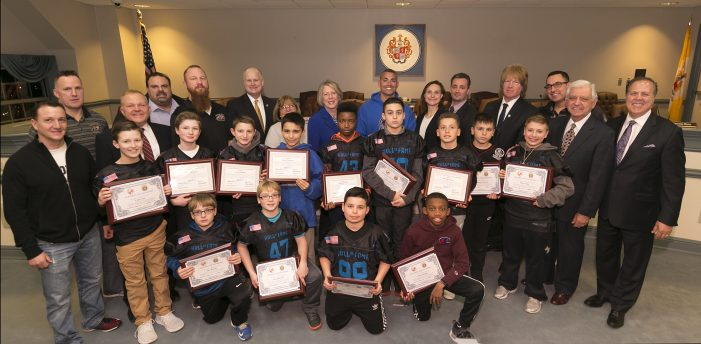 Freeholders Honor Hanover Tigers National Junior Pee Wee Champion Football Team