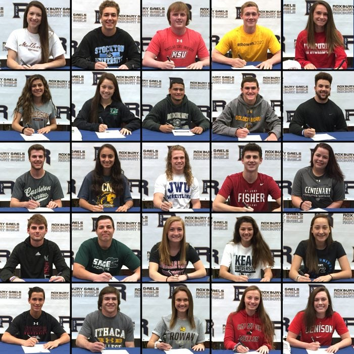 Roxbury Student-Athletes Sign NCAA Division Letters