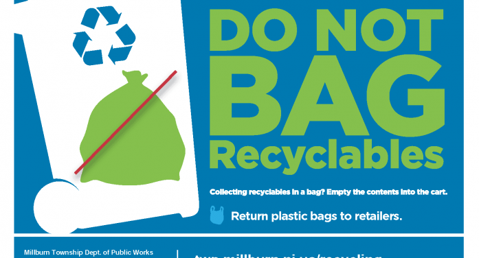 Millburn Bans Plastic Bags As Recycling Containers