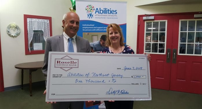 Abilities Receives $1,000 From Roselle Savings Bank
