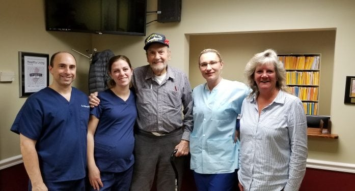 Local Dentist Repays Navy Veteran for His Service