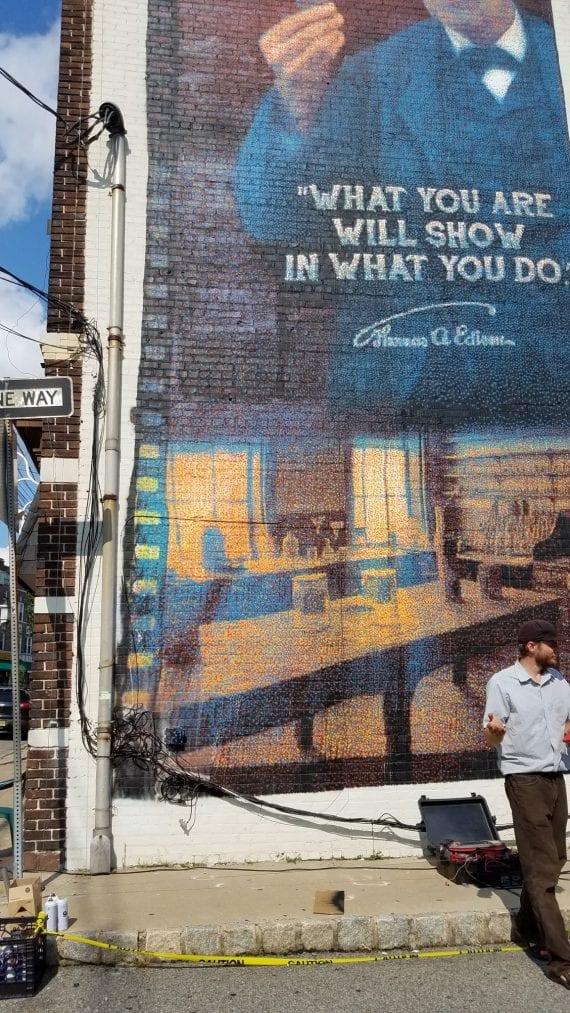 West Orange Gets A Wall-Climbing, Graffiti-Painting Robot