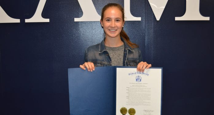 Randolph Runner Honored By State Assembly