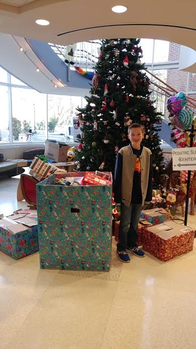 Budd Lake Sixth Grader Spends Money on Toys for Goryeb Patients