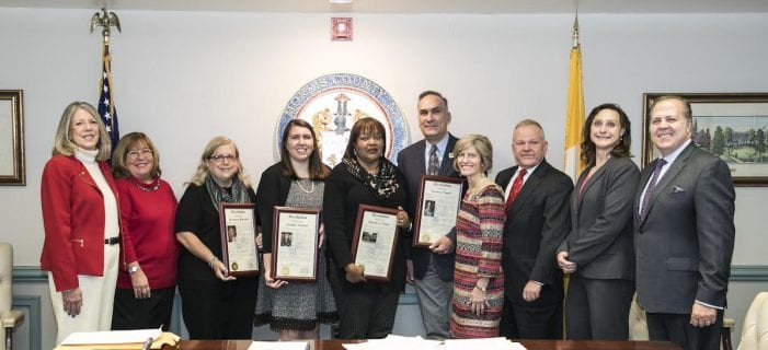 FREEHOLDERS HONOR FOUR EXCEPTIONAL COUNTY RESIDENTS