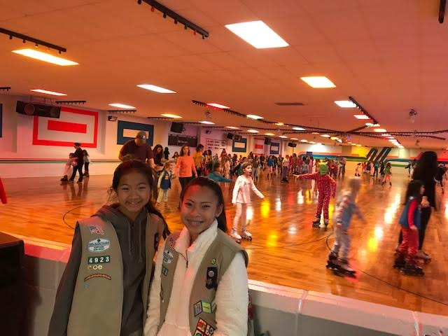 Girl Scout Troop 94923 hosted its annual Pajama Skate Party