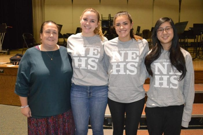 The Randolph High School Chapter of the National English Honor Society inducted 72 new members in a special ceremonyNov. 29.