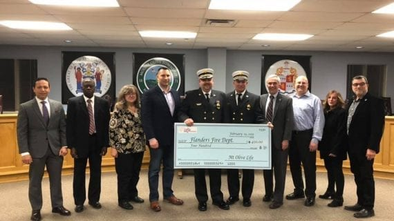 Donation to Flanders Fire Department