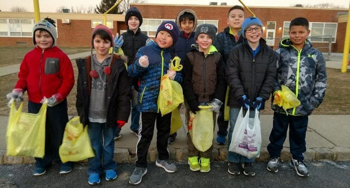 Bear Scouts Help Clean Up Sandshore Playground