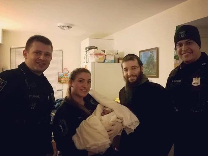 Morris Township Police help deliver a baby girl