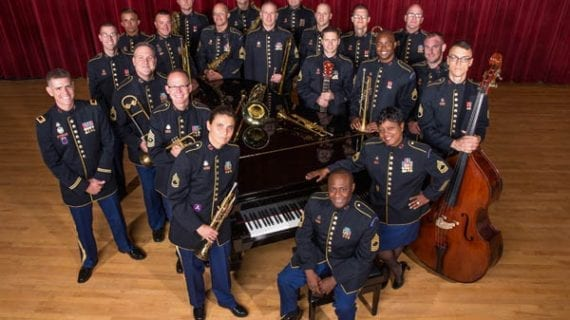 CENTENARY STAGE COMPANY PRESENTS THE UNITED STATES ARMY JAZZ AMBASSADORS.