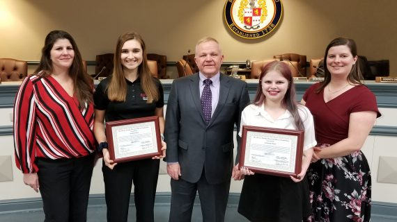 Freeholders Issue County Certificates to 4-H Agri-Science Participants