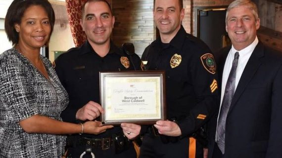 West Caldwell Police Recognized for Traffic Safety
