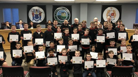 Mount Olive Wrestling Receives Certificates at Council Meeting