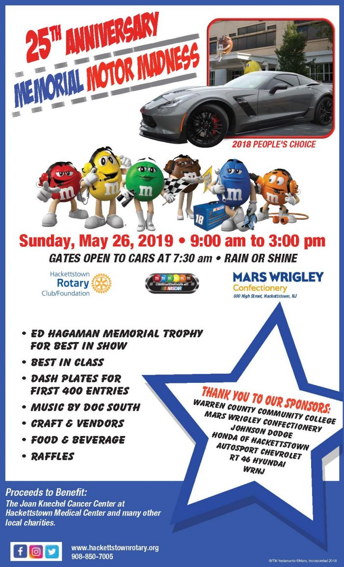 Thousands to Enjoy the 25th Anniversary Memorial Motor Madness Car Show May 26