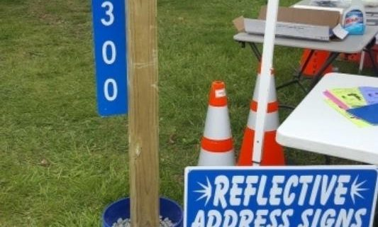 Hackettstown First Aid and Rescue Squad Using Reflective Address Signs to Find Homes