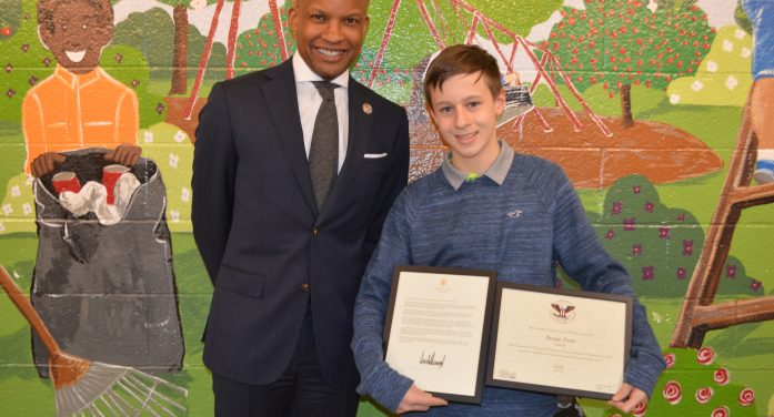 Randolph Middle School Student Recognized for Volunteer Work by White House and Prudential