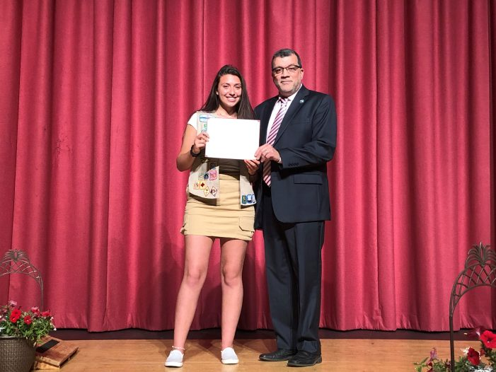 Parrillo Earns Girl Scout Gold Award