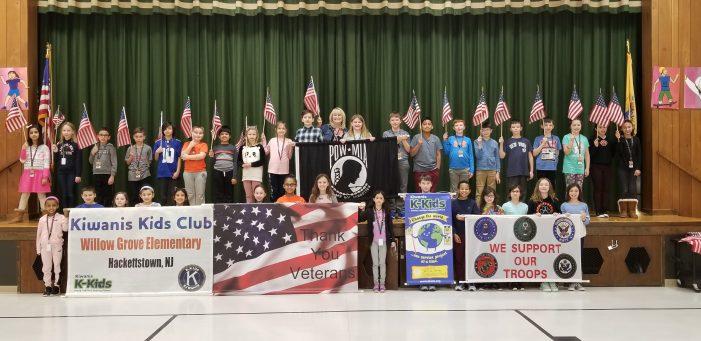 Willow Grove School Kiwanis Kids Club wins State Americanism Award