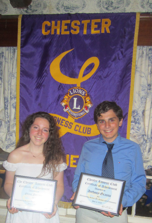 Chester Lioness Club Scholarship Winners Honored