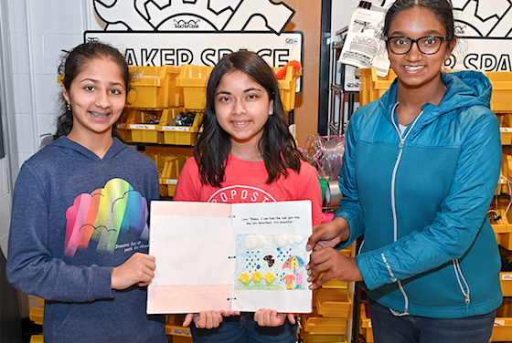 Mt Olive Middle School Students Write Book for Blind Classmate