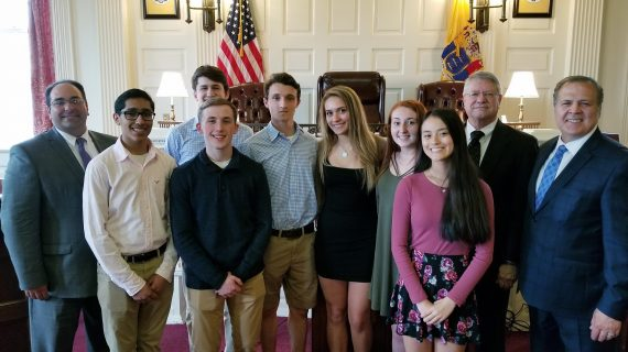 FREEHOLDERS AND BAR FOUNDATION HONOR WEST MORRIS MENDHAM HIGH SCHOOL MOCK TRIAL CHAMPIONS HONORED AT LAW DAY EVENT