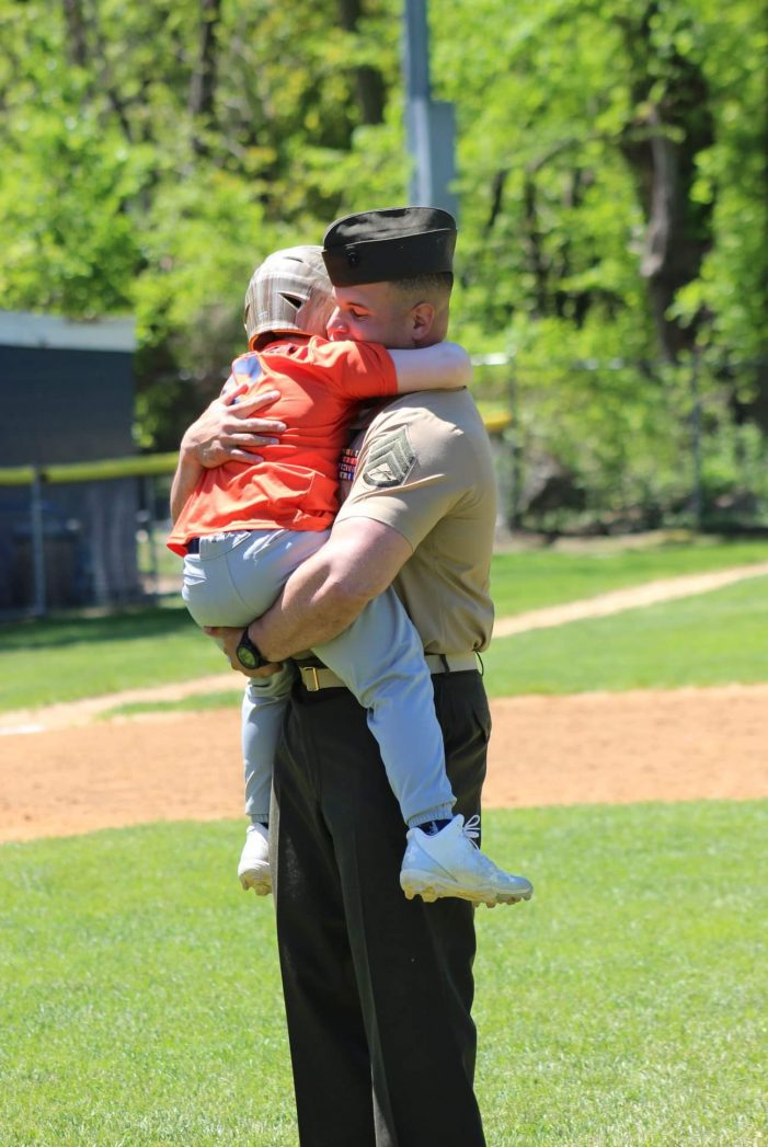 Marine Father Surprises Son with Homecoming at Bloomingdale Baseball Game