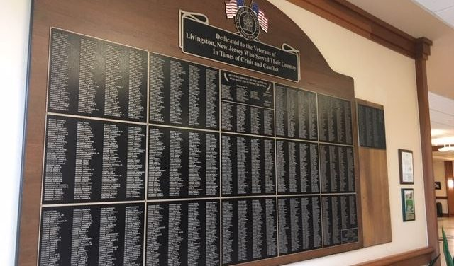 The Township of Livingston Adds to Its Military Wall of Honor