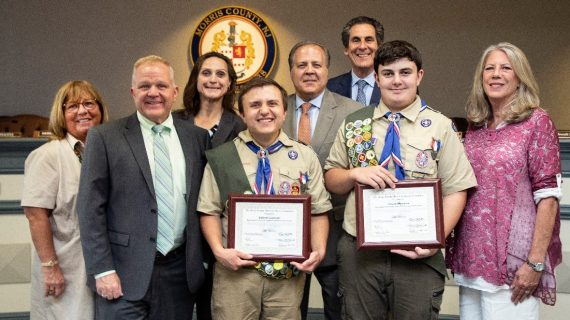 MORRIS COUNTY FREEHOLDERS HONOR TWO OUTSTANDING EAGLE SCOUTS FROM KINNELON