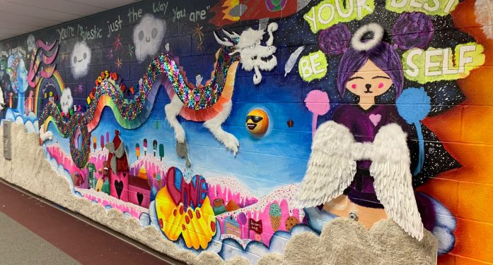 Mount Olive Middle School's Sensory Wall Mural Brings a Magical World to All