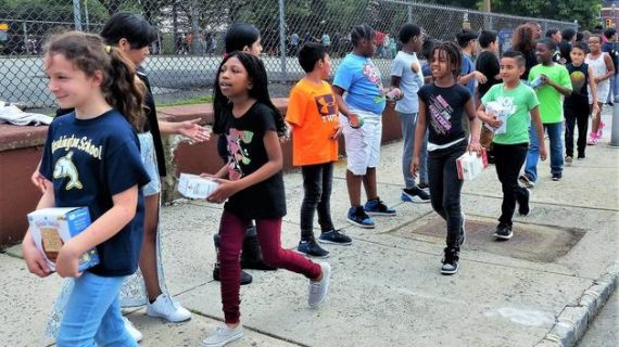 West Orange Students Form Human Chain to Benefit Local Food Pantry