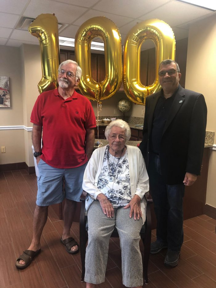 Paragon Village Resident Celebrates Centenarian Birthday