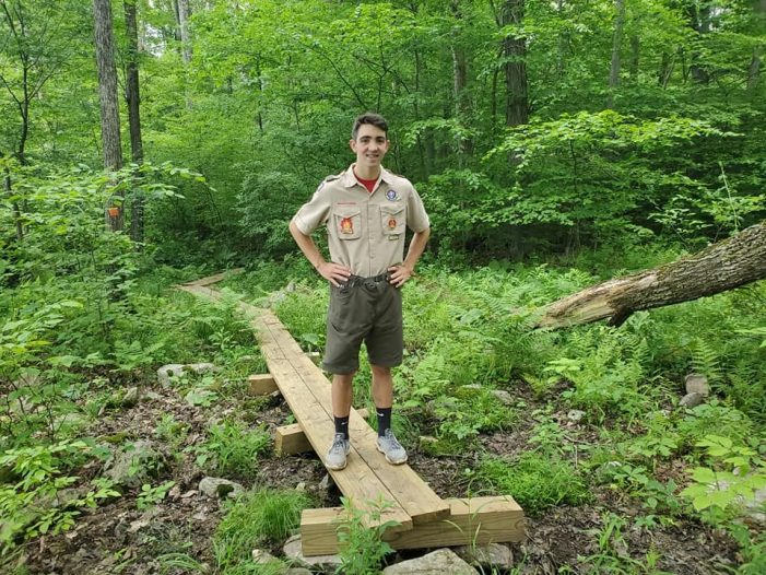 Mt. Olive High School Eagle Scout Builds Bridges and Boardwalks at Maiers Pond