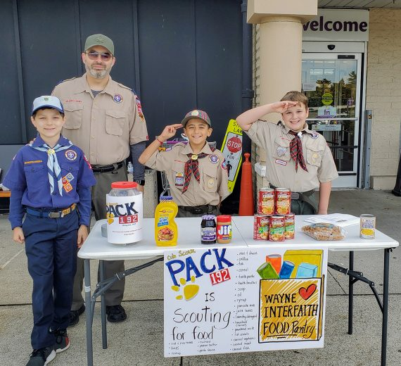 Cub Scouts Stock Wayne Interfaith Network Food Pantry