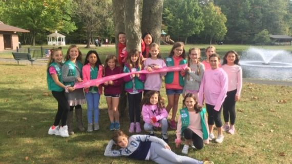 Local Girl Scout Troop Bring Awareness to Breast Cancer