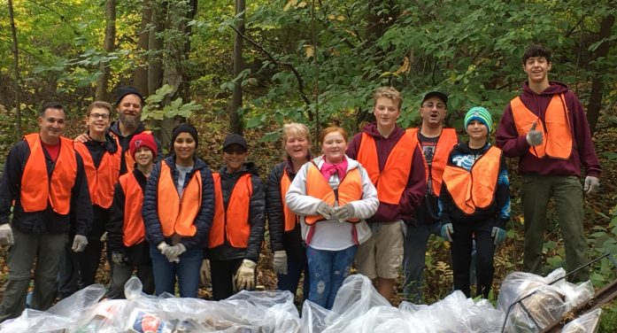 Troop 236 Supports Washington Township Clean-up