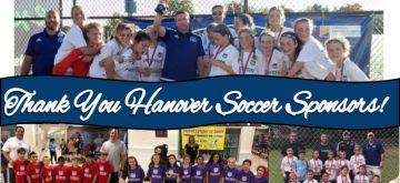 Hanover Soccer Club Thanks Sponsors