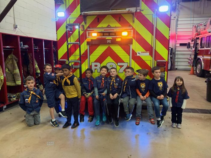 Pack 47 Visits the Flanders Firehouse