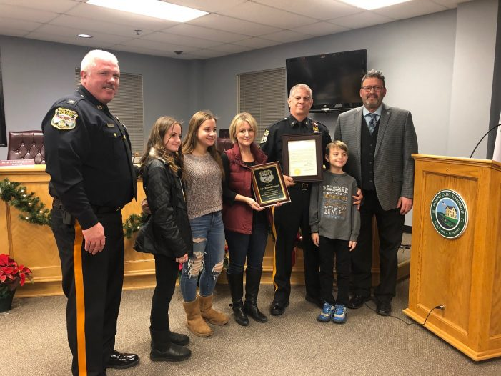 Sgt. Hatzel Recognized for Over 20 Years of Service
